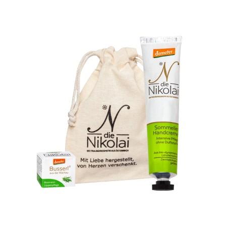 Letní balíček dieNikolai - krém na ruce Sommeliér a balzám na rty Rozmarýnový polibek